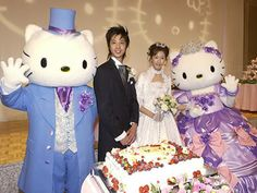 Did Hello Kitty perform the ceremony? #awkwardweddings.com