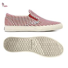 Superga 2311-COTSTRIPEDU RED-WHITE - Chaussures superga (*Partner-Link)
