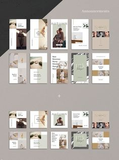 ANIMATED Neutral Instagram Bundle #template #instagram #photoshop #animated #story