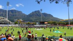 Newlands cricket ground, with Devil's Peak in the background.