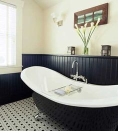 I have always wanted a claw tub! I think they are absolutely beautiful. Easy cleaning and my 6ft 4in hubby can fit in it as well...looks like a win win for me!