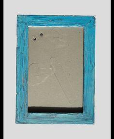"Holzbilderrahmen im ""Shabby Chic""-Style - Blau"