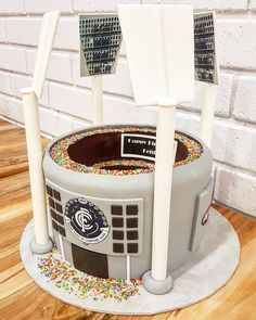 Matcha, cocoa and white chocolate marbled - HQ Recipes Carlton Football Club, Football Birthday, 9th Birthday, Pear Cake, Banana Slice, Novelty Cakes, Cake Tins, Cake Toppings, Savoury Cake
