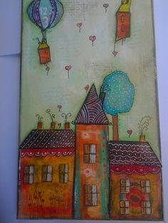 Mixed media houses..a closer look