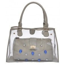 Clear Tote Bag Beach With Polka Dots Royal Blue Bags And