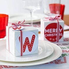 Christmas Gift Box With Labels  - #wrappingideas #wrapping #gifts #christmas #diy
