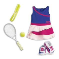 American Girl - Tennis Ace Outfit for Dolls for Dolls - Truly Me 2016 * Want additional info? Click on the image.