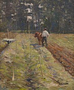 """Abbott Fuller Graves (1859-1936), """"The Plowman"""""""