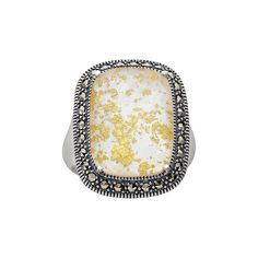 Lavish by TJM Sterling Silver Crystal and Mother-of-Pearl Doublet Frame Ring - Made with Swarovski Marcasite, Women's, Size: 8, multicolor