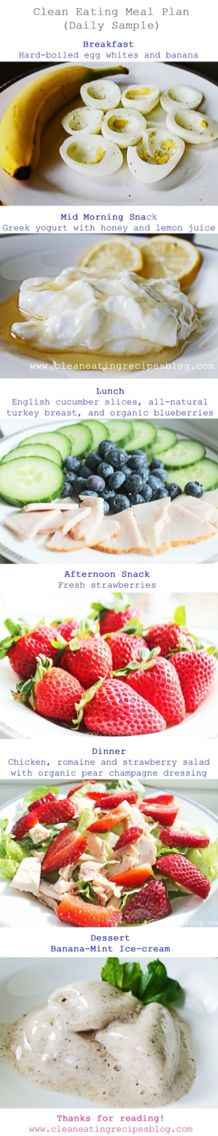 Easy Healthy Daily Clean Eating Meal Plans