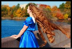 girl long flying hair by longh1, via Flickr