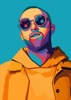 """Beautiful """"Mac Miller"""" metal poster created by Hafis Hafis. Our Displate metal prints will make your walls awesome."""