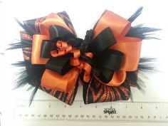 Rylee's outrageous Halloween bow