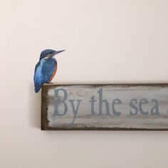 Your place to buy and sell all things handmade Wall Murals, Wall Art Decor, Vinyl Wall Stickers, Kingfisher, Bird Art, Old And New, Beams, Wood Projects, Original Paintings