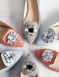 Jeweled flats for spring | Sole Society Libry ummmm yes! i'll take one of each.