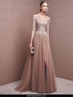 awesome Çiçekli dantel elbise modelleri 2016