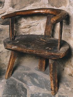 People's Collection Wales - Three-legged chair in the workshop, Highgate, the childhood home of David Lloyd George, 1864-1880 [image 2 of 3]