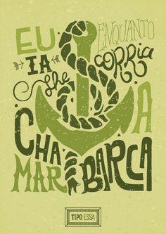 Cartaz tipográfico da música Preta Pretinha, do grupo Novos Baianos. | Preta Pretinha lettering - typography