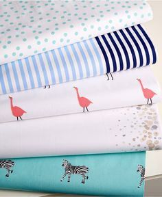 Martha Stewart Whim Collection Novelty Print 200 Thread Count Sheet Sets - Whim Collection - Bed & Bath - Macy's STRIPE