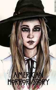 American Horror Story: Coven - Hauntingly Beautiful Fan Art Portraits