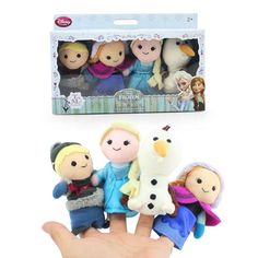 2014 Hot Sale 4pcs/set Frozen Finger Puppet Set of Four Stuffed Toys Finger Dolls Baby Toys Olaf Kristoff Anna Else Plush Toys $9.25 - 12.18