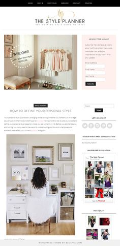 Stylish blog design for The Working Gal's Guide to Style. Using Bluchic Marilyn Theme