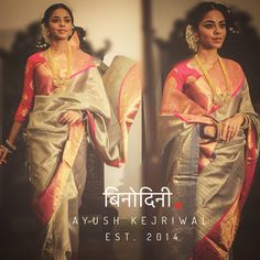 We all know how much a south indian bride loves her Kanjeevaram ! A wedding day for her is not complete without the perfect Kanjeevaram. A traditional Kanjeevaram is an all time winner, but there a… South Indian Sarees, Indian Silk Sarees, South Indian Bride, Ethnic Sarees, Indian Dresses, Indian Outfits, Indian Clothes, Modern Saree, Saree Look
