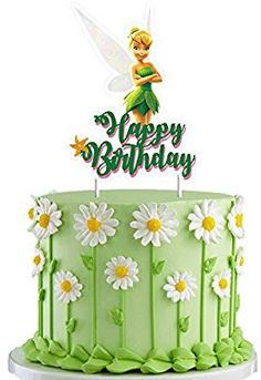 Tinkerbell Cake Topper Decorations Birthday Party Toppers for Children, 1 count Tinkerbell Cake Topper, Tinkerbell Party Theme, Tinkerbell Birthday Cakes, Fairy Birthday Cake, Happy Birthday Cake Topper, Tangled Party, Princess Birthday, Birthday Party Centerpieces, Birthday Decorations