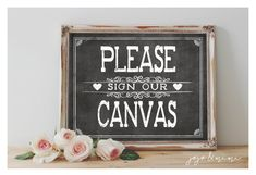 Instant 'Please sign our Canvas' Printable Wedding by JoJoMiMi