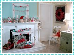 A Cottage Christmas Mantel Pictorial Tutorial