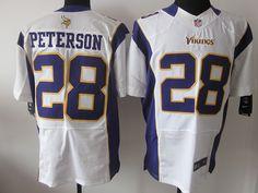 Minnesota Vikings #28 Adrian Peterson White Nike NFL Elite Jersey    ID:8259436  $23