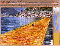 The Floating Piers (Project for Lake Iseo, Italy) - by Christo and Jean-Claude