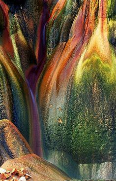 Mineral Rich Fly Geyser Rocks, Black Rock Desert, Nevada USA