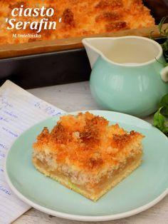 Serafin- ciasto z jabłkami i kokosem Cornbread, Macaroni And Cheese, French Toast, Breakfast, Ethnic Recipes, Sweet, Blog, Cakes, Millet Bread