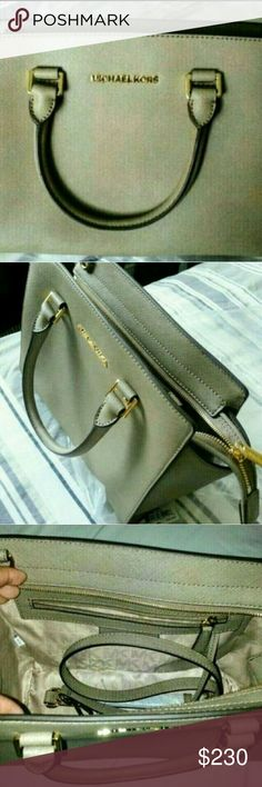 Authentic Mk Selma Dark dune Brand new with tag Michael kors. Very classy dark dune color in medium size. Love this handbag but I have 2 of these in different color and cleaning out my closet. Michael Kors Bags Shoulder Bags