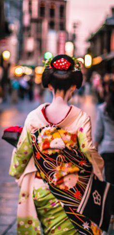 The Maiko of Kyoto/beautiful Obi