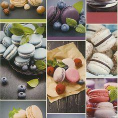 Details Zu Küchen / Rasch 852806 / Bunte Burger / Französische Macarons /  Vinyl / 2,72 U20ac/qm