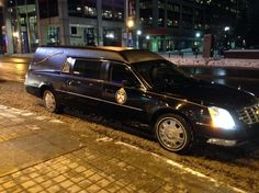 """Toronto Police are using a hearse to catch distracted drivers in a week long campaign called """"That Text or Call Could End It All"""""""
