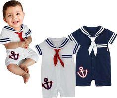 Baby Casual Boy Girl Clothes Dress Sailor Stripe Tshirt Swim Costume Shoes | eBay