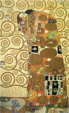 Cartoon for the Frieze of the Villa Stoclet in Brussels: Fulfillment - Gustav Klimt