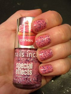 Sprinkle nail polish from Sephora. My new favorite!