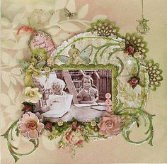 Layout by Joycekers at scrapbook.com-I can imagine a Disney page or wedding page with Cinderella carriage-Must Do