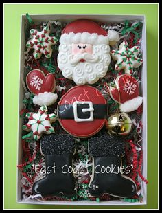 Santa Cookie Man I wish I was talented enough to make these!! What a cute twist on holiday gifts to your neighbors and co-workers!