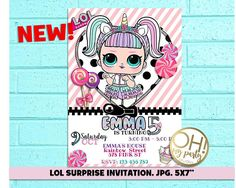 LOL surprise birthday invitation, LOL SURPRISE UNICORN, lol surprise party, lol surprise birthday, lol surprise invitation, lol surprise birthday,lol surprise,lol Personalized their birthday special with this unique Birthday Party Invitation! This listing is for one digital