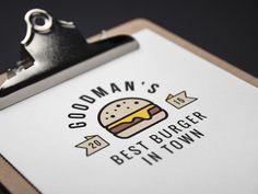 Burger Logo Mockup