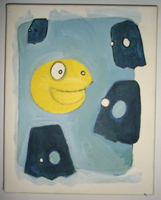 edding markers, acryl and gesso on canvas [2005]