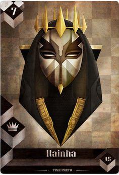 Xadrez - Rainha Negra ( Card Game concept)