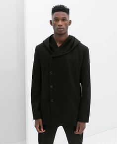 Image 2 of SHORT COAT WITH HOOD from Zara