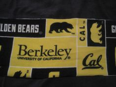 California University in Berkeley Fleece Scarf - 1 of 2 Choices by CutnTiedbyRedYvette on Etsy