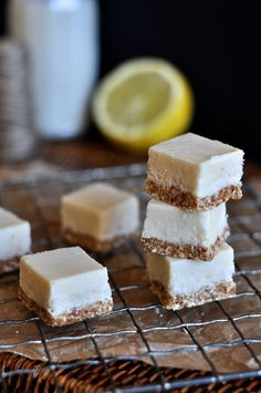 Grain-free, Nut-free Lemon Cheesecake Squares (AIP + GAPS friendly)
